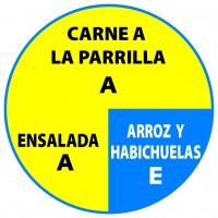 Carne Ensalada Arroz & Habichuelas