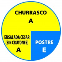 Churrasco Ensalada Cesar Postre